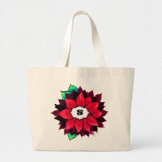 CLASSIC RED POINSETTIA Design Jumbo Tote Bag