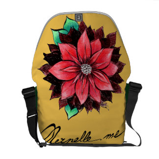 CLASSIC RED POINSETTIA Design Courier Bags