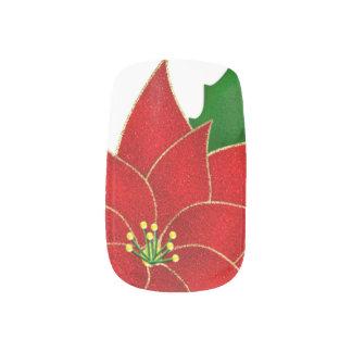 Classic Red Poinsettia Minx ® Nail Art