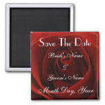 Classic Red Rose Save the Date Wedding Magnet