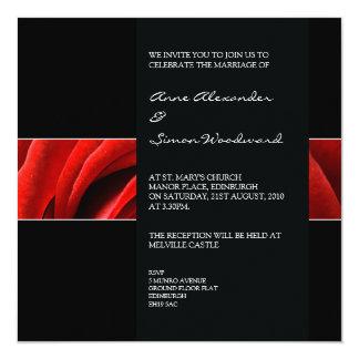 Classic Red Rose Wedding Invitiation Invites
