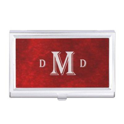 Executive monogram classic black case for business cards zazzle colourmoves