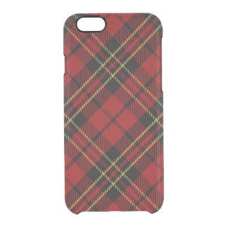 Classic Red Tartan iPhone 6/6S Clear Case