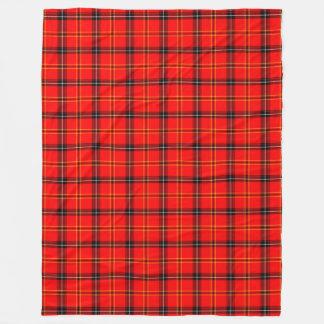 Classic Red Tartan Plaid Warm Throw Blanket Fleece Blanket