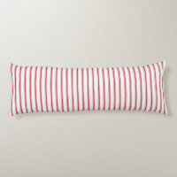 Classic Red Ticking Tape Stripe Body Pillow