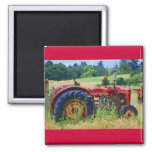 Classic Red Tractor Fridge Magnets