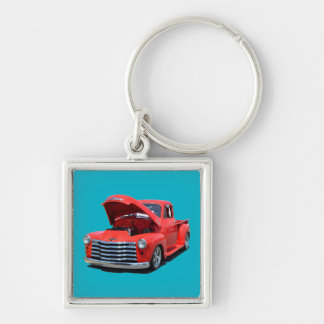 Classic Red Truck Keychain