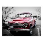 Classic Red Truck Postcard