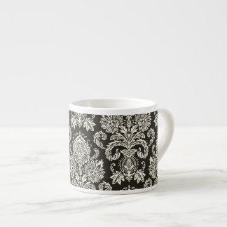 Classic Red White Damask Pattern 6 Oz Ceramic Espresso Cup