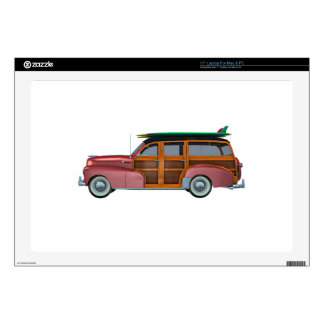 """Classic Red Woody 17"""" Laptop Skin"""