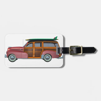 Classic Red Woody Bag Tag