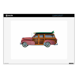 Classic Red Woody Decal For Laptop