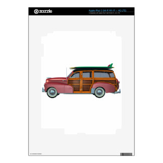 Classic Red Woody iPad 3 Decals