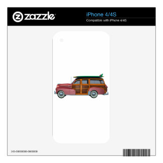 Classic Red Woody iPhone 4S Decal