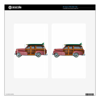 Classic Red Woody Kindle Fire Decals