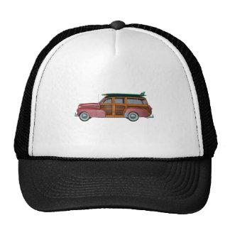 Classic Red Woody Trucker Hat