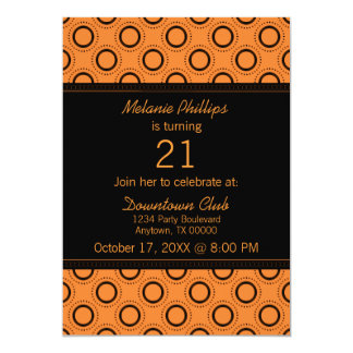 Classic Refinement 21st Birthday Party Invite