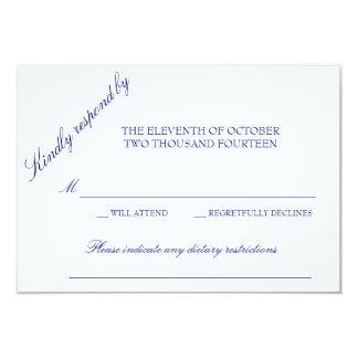 "Classic Response Card 3.5"" X 5"" Invitation Card"