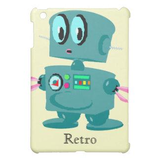 Classic retro green robot iPad mini case