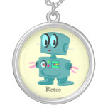 Classic retro green robot pendant