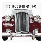 Classic Retro Vintage Car Birthday Party Invites Personalized Invite