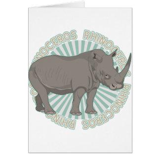 Classic Rhinoceros Greeting Card