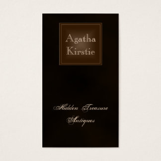 Classic Rich Chocolate Brown Business Card