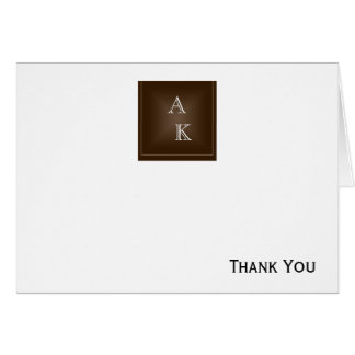 Classic Rich Chocolate Brown Card