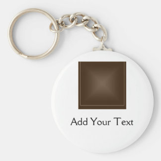 Classic Rich Chocolate Brown Keychain