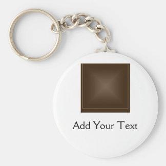 Classic Rich Chocolate Brown Keychain