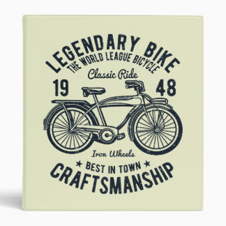 Classic Ride Bicycle Legendary Bike Craftsmanship Binder
