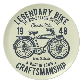 Classic Ride Bicycle Legendary Bike Craftsmanship Dinner Plate