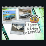 """Classic Rides Car Calendar<br><div class=""""desc"""">This Classic Rides Calendar is full of yesterday and today&#39;s cars. From muscle cars to exotics.</div>"""