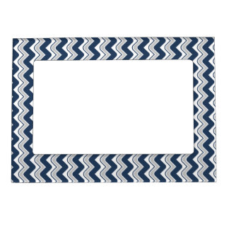 Classic Ripple Chevron Magnetic Frame - Blue