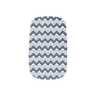Classic Ripple Chevron Minx Nails - Blue Minx ® Nail Art