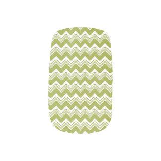 Classic Ripple Chevron Minx Nails - Olive Minx ® Nail Art