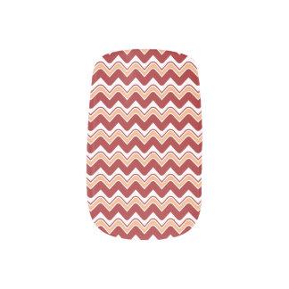 Classic Ripple Chevron Minx Nails - Red Minx ® Nail Art