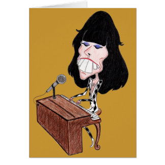 Classic Rock 70's Funny Caricature Greeting Cards