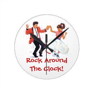 Classic Rock and Roll Ceroc Modern Jive Round Clock