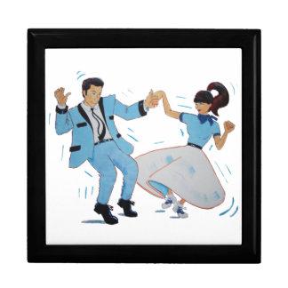 classic rock and roll dancing cartoon gift box