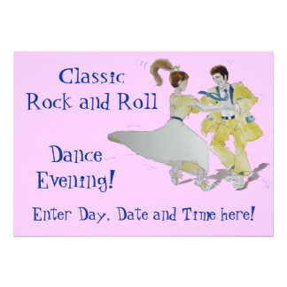Classic Rock and Roll Dancing Invitation