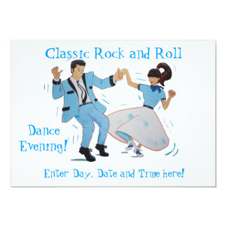 Classic Rock and Roll Jive Dancing Blue Suit Card