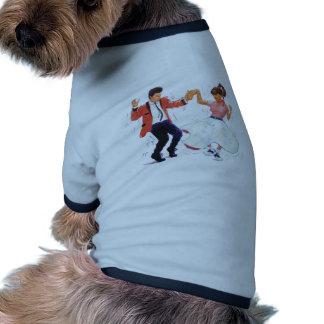 Classic Rock and Roll  Jive Dancing Doggie T-shirt