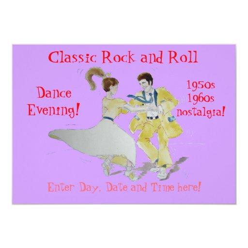 Classic Rock and Roll  Jive Dancing 5x7 Paper Invitation Card