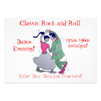 Classic Rock and Roll  Jive Dancing Invites