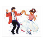 Classic Rock and Roll  Jive Dancing Post Card