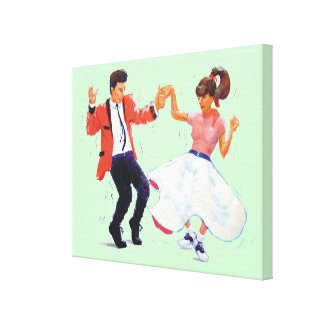 Classic Rock and Roll Jive Dancing Saddle shoes Canvas Print