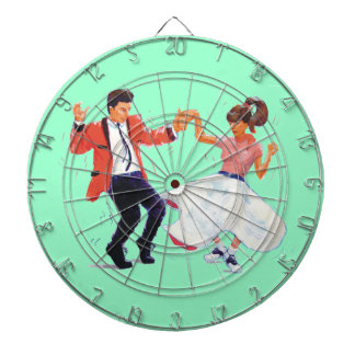 Classic Rock and Roll Jive Dancing Saddle shoes Dartboards