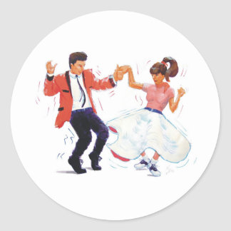 Classic Rock and Roll  Jive Dancing Stickers