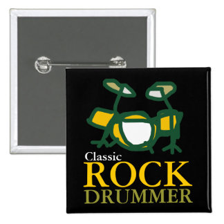 classic rock drummers button
